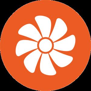 Ilmanvaihto ikoni oranssi